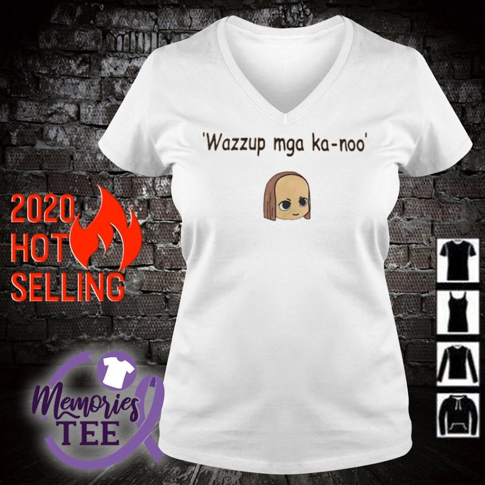Wazzup mga ka-noo s v-neck t-shirt