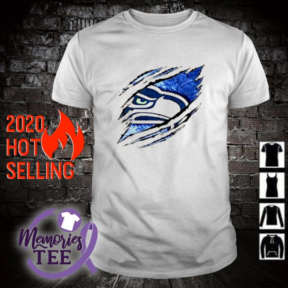 Seattle Seahawks football team logo shirt