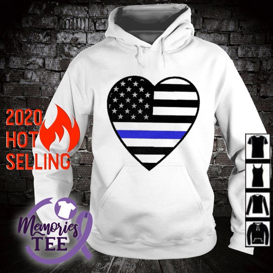 Heart Thin Blue Line s hoodie