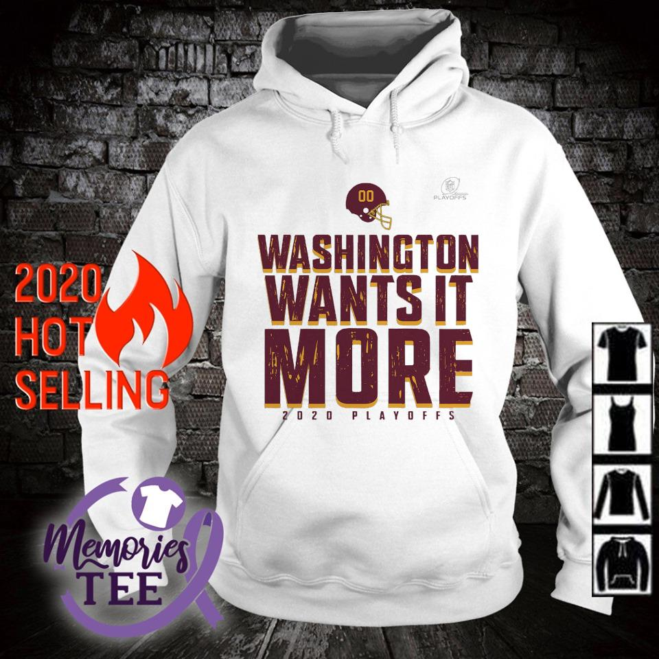 Washington wants it more 2020 playoffs s hoodie
