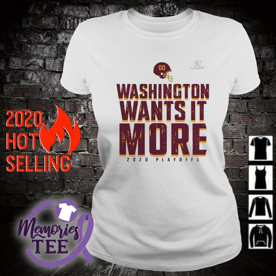Washington wants it more 2020 playoffs s ladies-tee