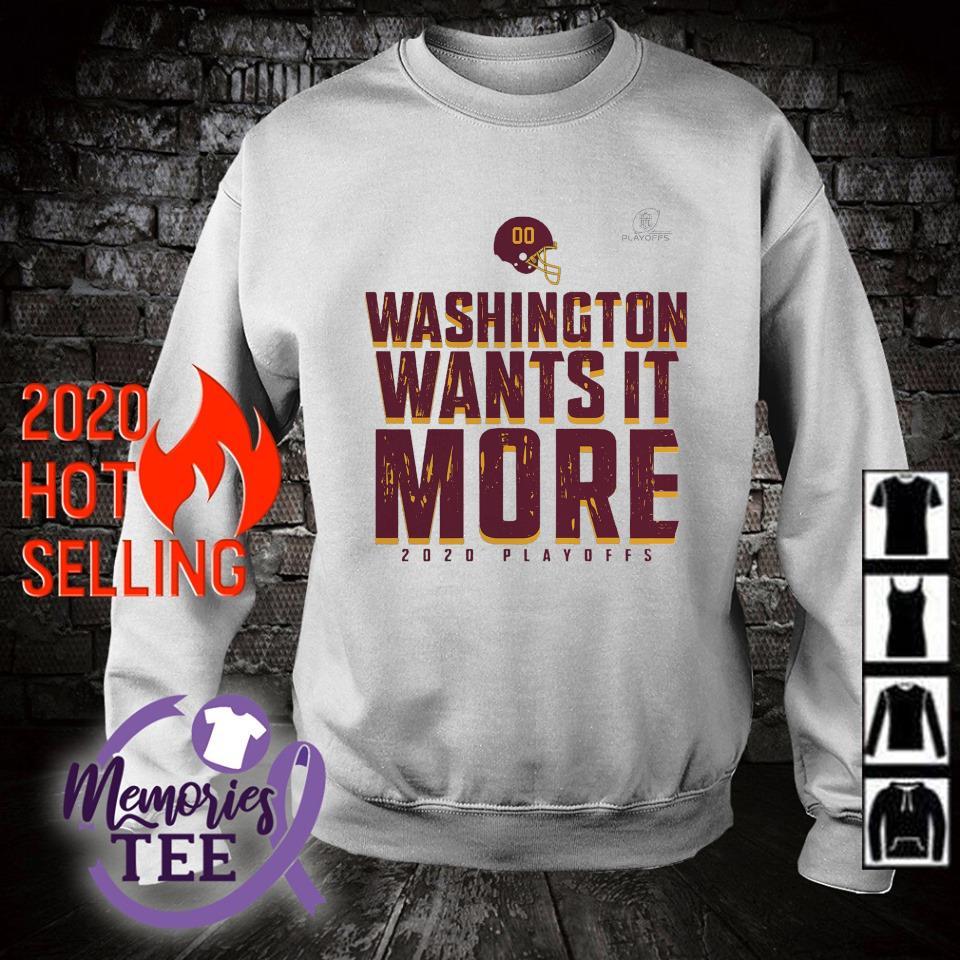 Washington wants it more 2020 playoffs s sweater
